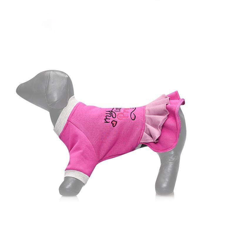 Lepus Küçük Irk Köpek Kışlık Elbise Lila XLarge
