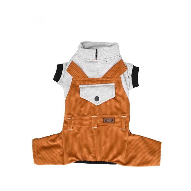 Lepus Küçük Irk Köpek Bahçıvan Tulum Elbise Hardal XLarge
