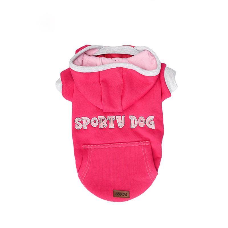 Lepus Küçük Irk Köpek Kapşonlu Sweet Elbise Fuşya Large