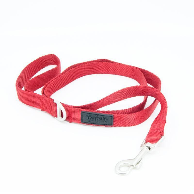 Tailpetz Kırmızı Leash Köpek Gezdirme Tasması Small