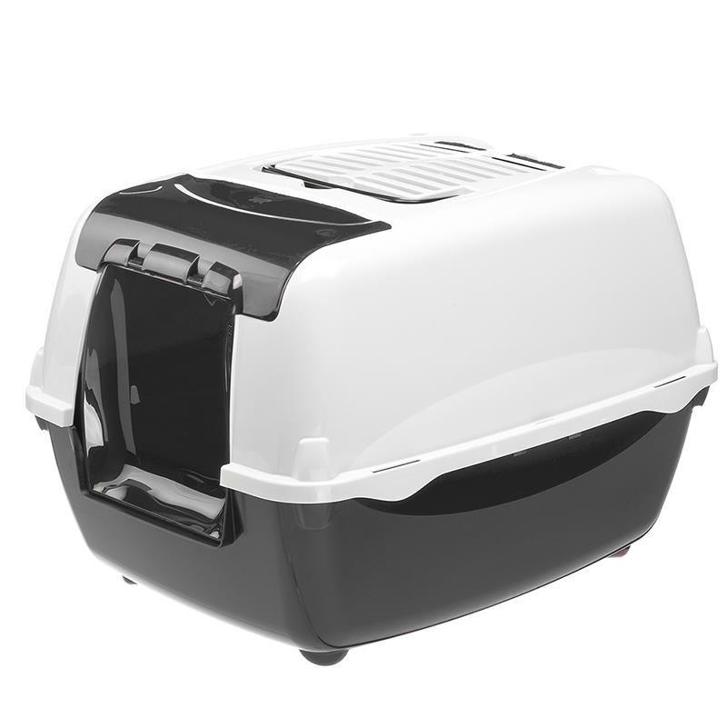 Ferplast Bella Cabrio Filtreli Kapalı Kedi Tuvaleti Siyah 43x56x38 Cm