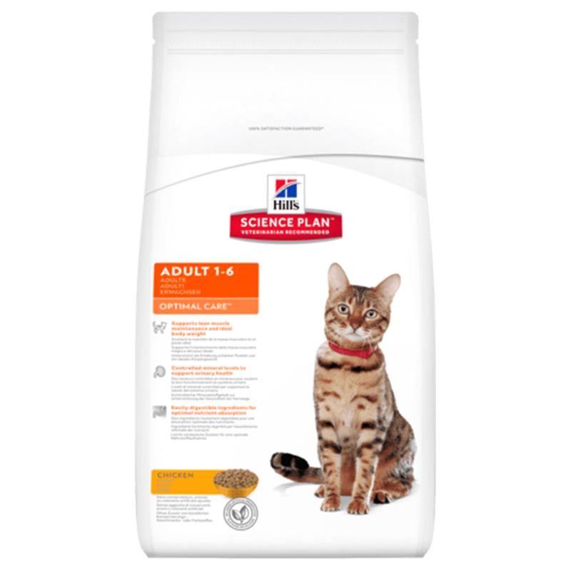 Hills Optimal Care Tavuk Etli Yetişkin Kedi Maması 10 Kg