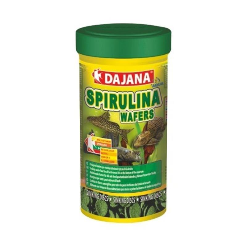 Dajana Spirulina Wafers Dip Balıkları İçin Bitkisel Yem 250 Ml 100 Gr