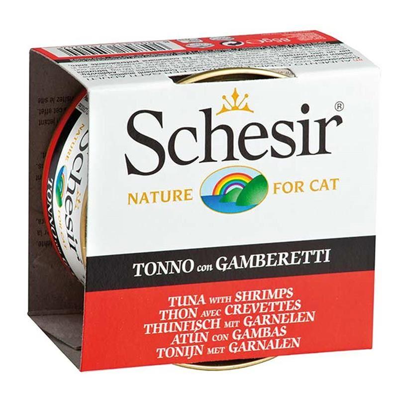 Schesir Ton Balıklı Karidesli Jöleli Kedi Konservesi 85 Gr