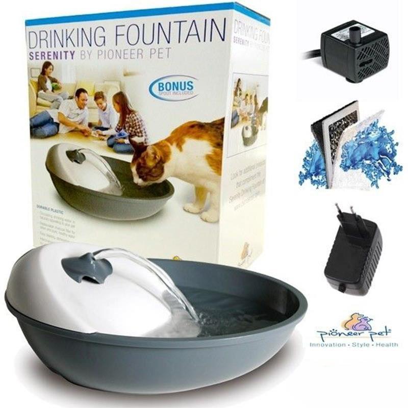 Pioneer Pet Kedi Köpek Otomatik Su Kabı Gri 1,77 Litre