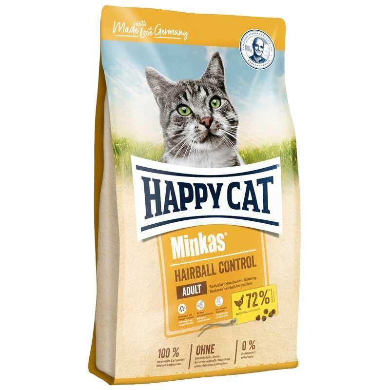 Happy Cat Minkas Hairball Tavuklu Yetişkin Kedi Maması 4 kg