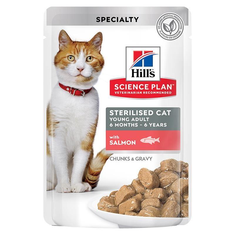 Hills Gravy Somonlu Kısırlaştırılmış Kedi Konservesi 85 Gr
