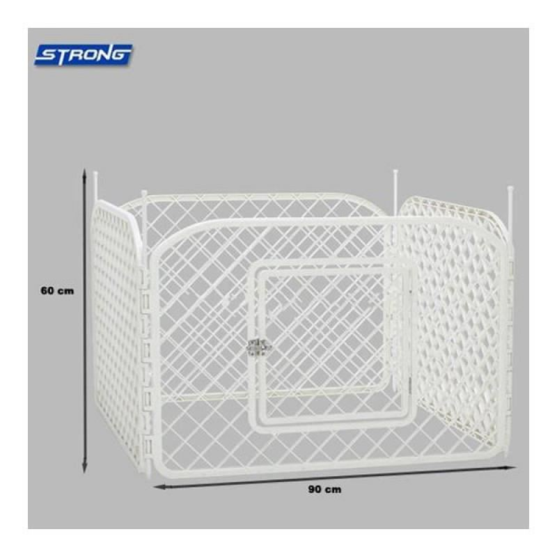 Strong Plastik Çit 90cm 60cm Panel Kare Model