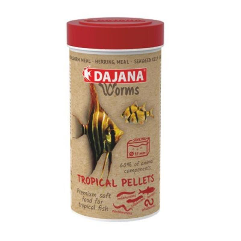 Dajana Worms Tropical Pellets Soft 250 ml 125 Gr
