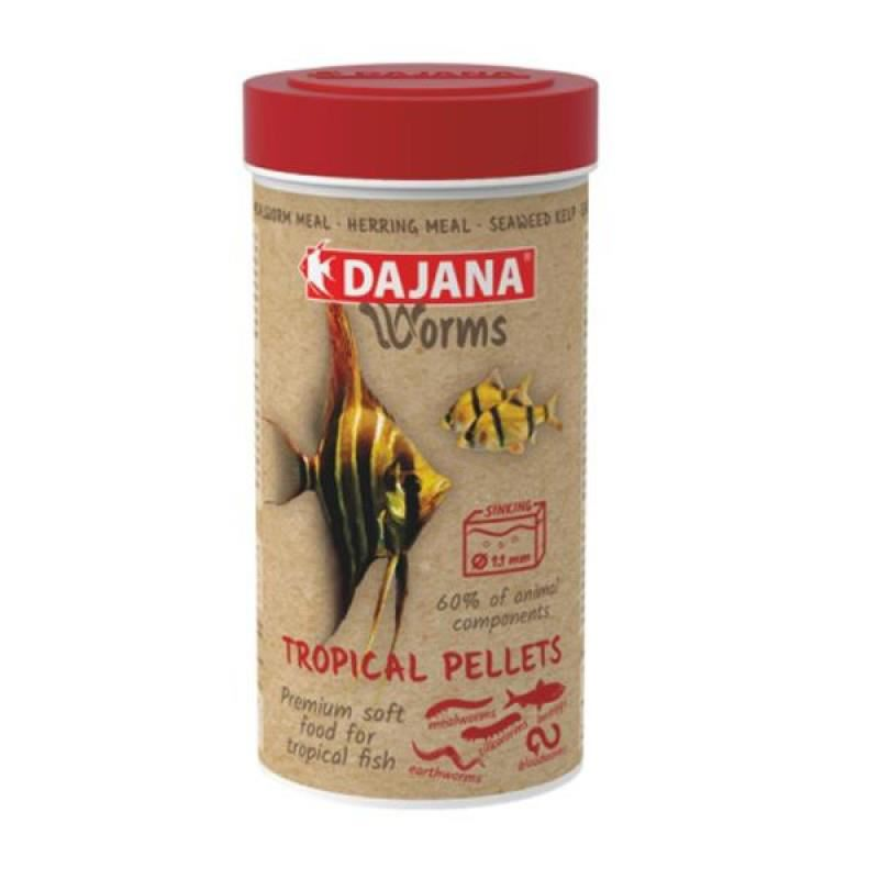 Dajana Worms Tropical Pellets Soft 100 ml 50 Gr