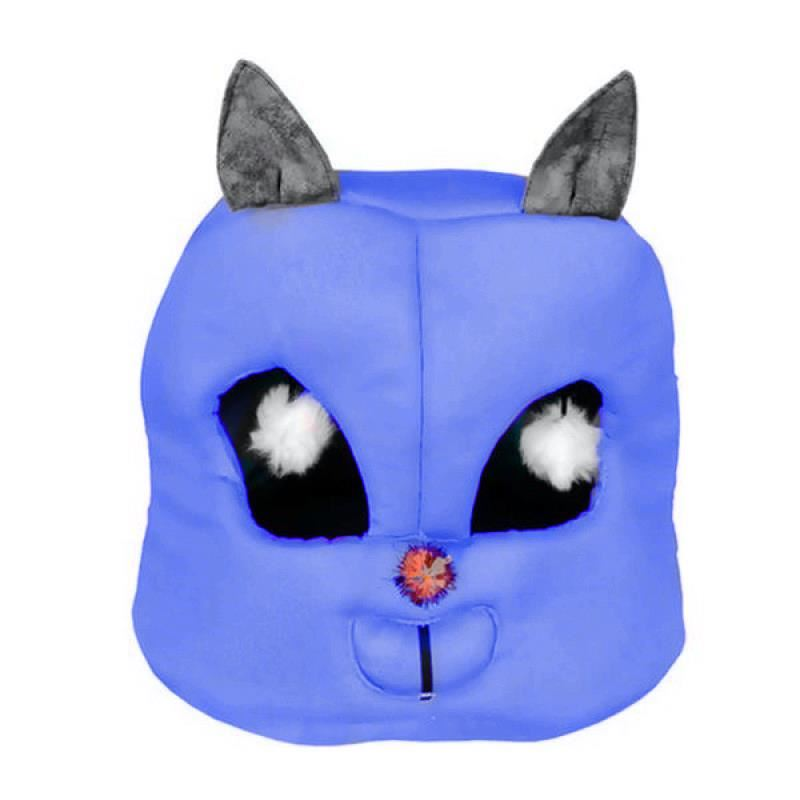 Kedi Kafası Şekilli Kedi Yatağı 45x50x50 Cm Lacivert