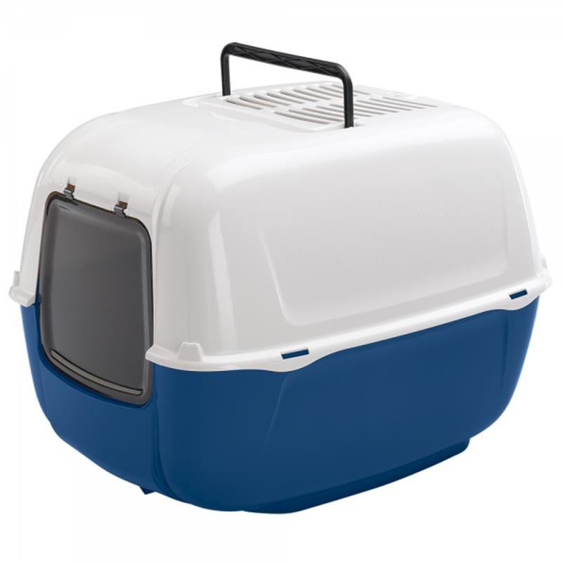 Ferplast Prima Azzurra Kapalı Kedi Tuvaleti 39.5 x 52.5 x 38 Cm