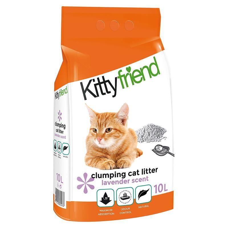Sanicat Kitty Friend Lavanta Aromalı Topaklanan Kedi Kumu 10 Lt