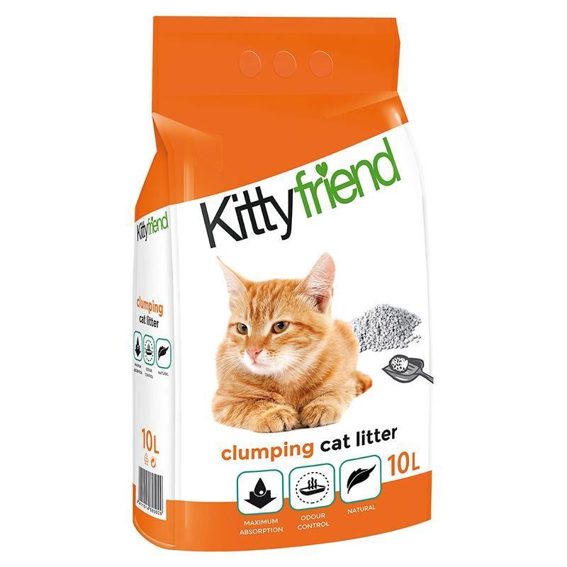 Sanicat Kitty Friend Naturel Topaklanan Kedi Kumu 10 Lt
