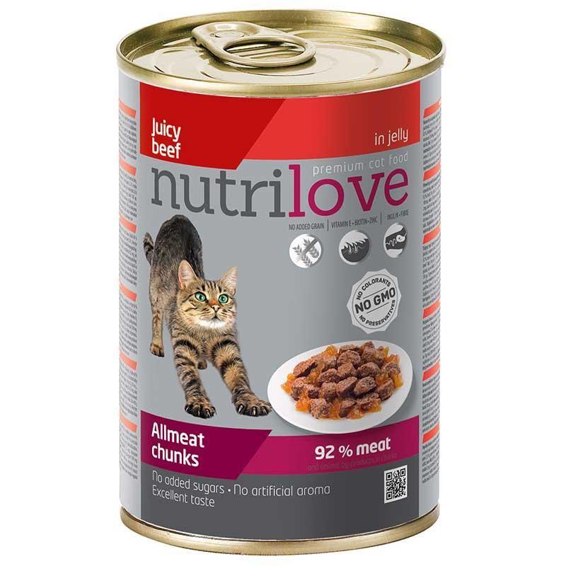 Nutrilove Sığır Parça Etli Kedi Konservesi 400 gr