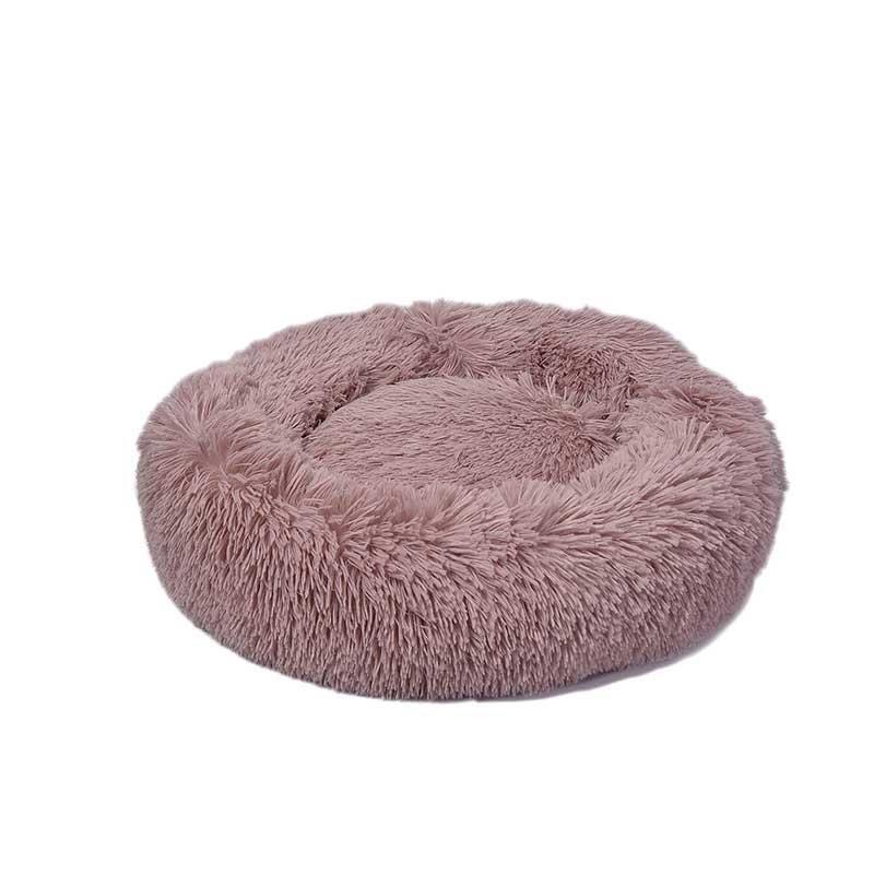 Dubex Ponchik Peluş Kedi Köpek Yatağı Pembe Medium