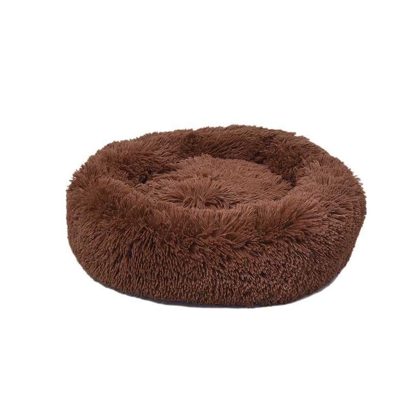 Dubex Ponchik Peluş Kedi Köpek Yatağı Tarçın Medium