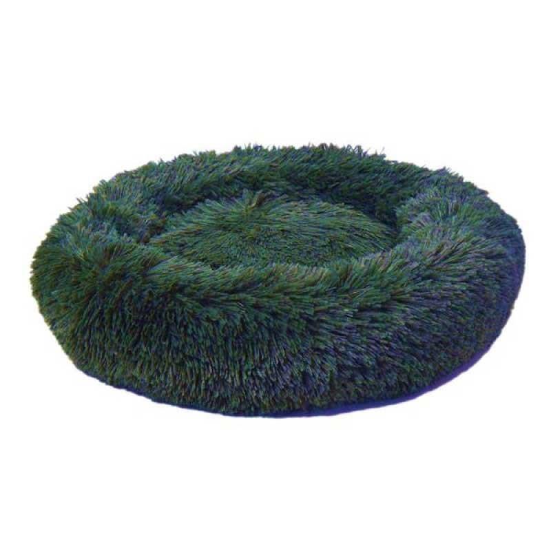 Dubex Ponchik Peluş Kedi Köpek Yatağı Yeşil Large