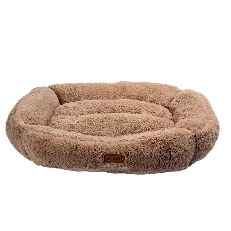 Dubex Brownie Peluş Kedi Köpek Yatağı Dikdörtgen Camel Small