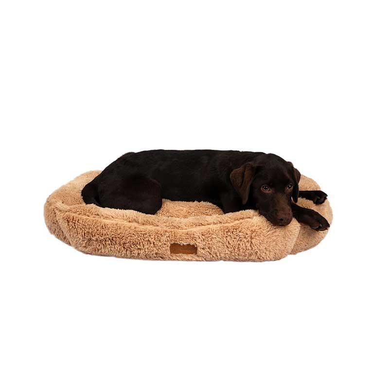 Dubex Brownie Peluş Kedi Köpek Yatağı Dikdörtgen Camel XL