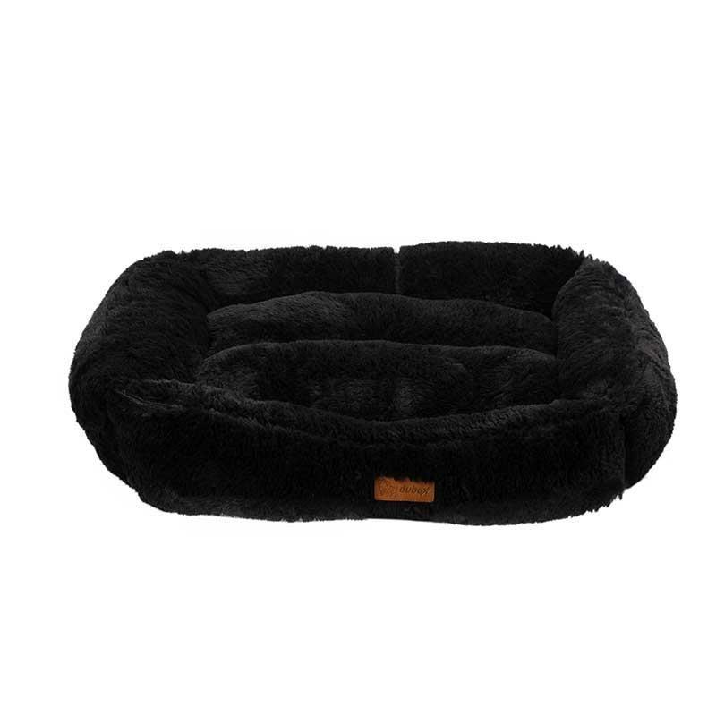 Dubex Brownie Peluş Kedi Köpek Yatağı Dikdörtgen Gri Medium