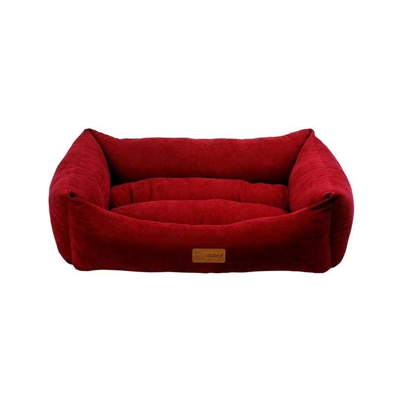 Dubex Cookie Kedi Köpek Yatağı Bordo Large