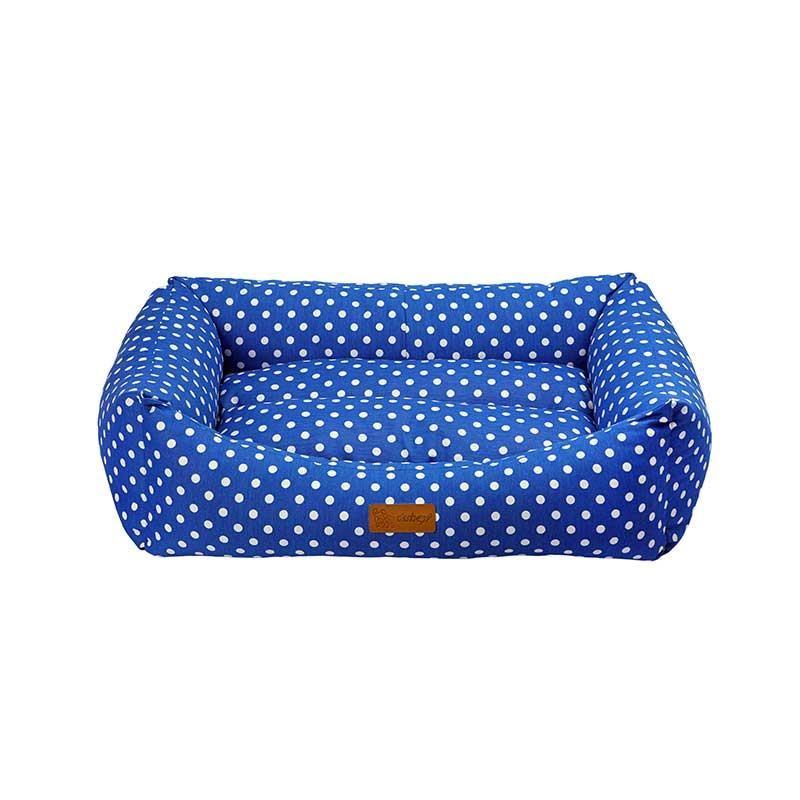 Dubex Makaron Kedi Köpek Yatağı Mavi Benekli Large