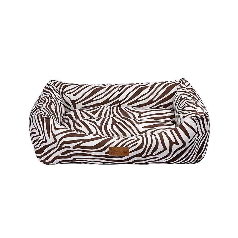 Dubex Makaron Kedi Köpek Yatağı Kahve Zebra XL