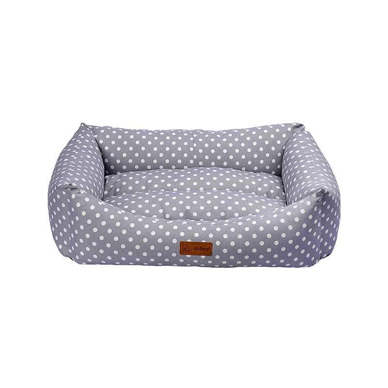 Dubex Makaron Kedi Köpek Yatağı Gri Benekli XL