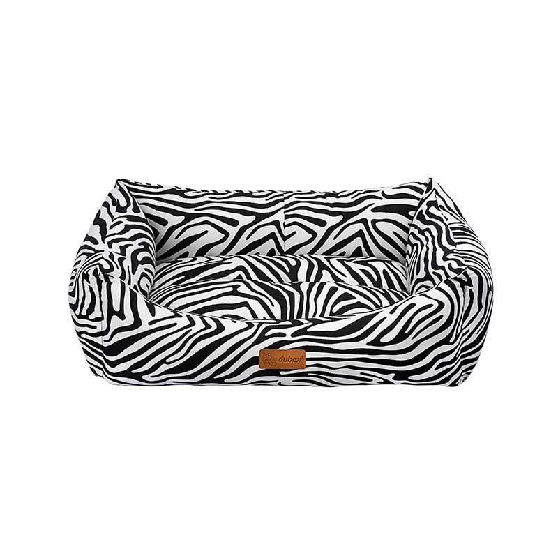 Dubex Makaron Kedi Köpek Yatağı Siyah Zebra XLarge