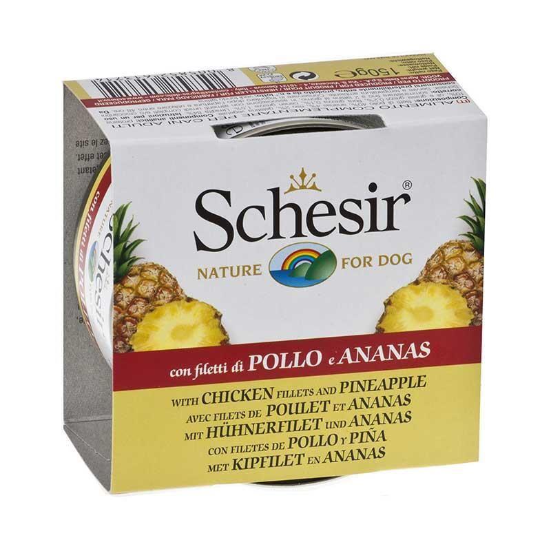 Schesir Fruit Tavuk ve Ananaslı Köpek Konservesi 150 gr