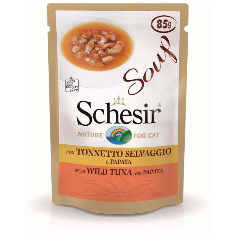 Schesir Ton Balıklı Papayalı Kedi Çorbası 85 gr