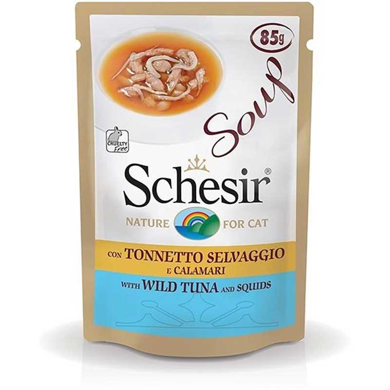 Schesir Ton Balıklı Kalamarlı Kedi Çorbası 85 gr