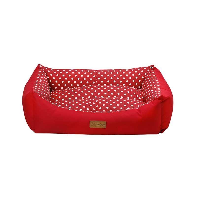 Dubex Tarte Kedi Köpek Yatağı Kırmızı Benekli Small