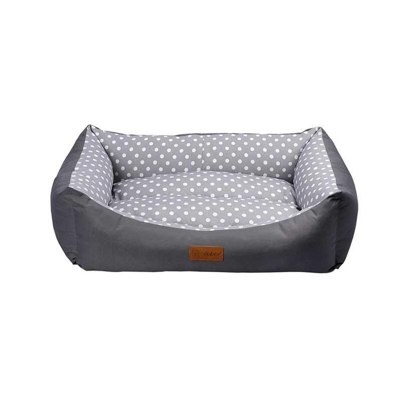 Dubex Tarte Kedi Köpek Yatağı Gri Benekli XL