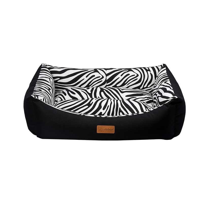 Dubex Tarte Kedi Köpek Yatağı Siyah Zebra Large