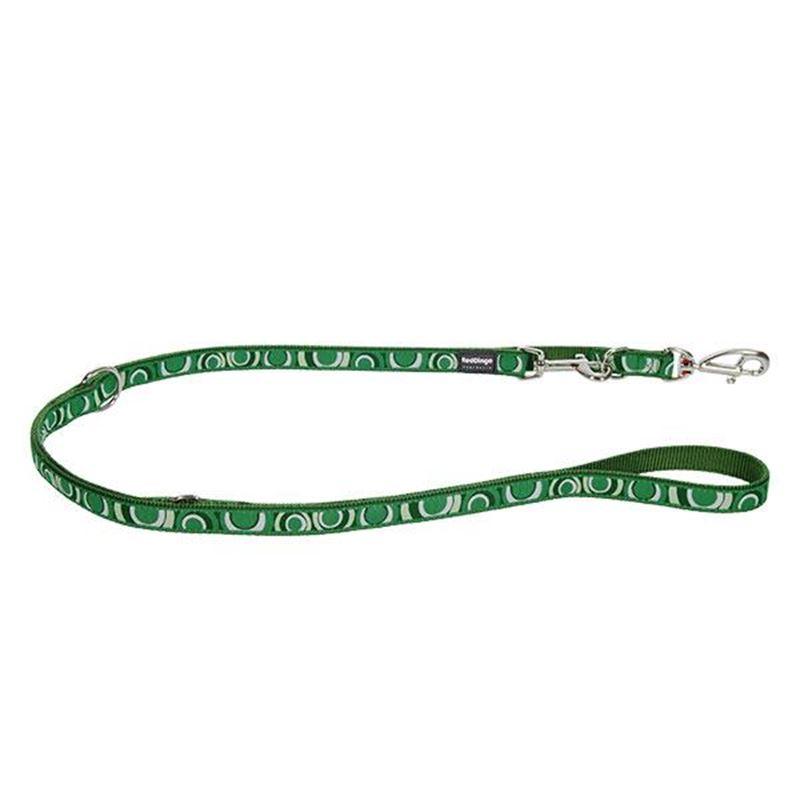 Reddingo Circadelic Desenli Yeşil Çok Amaçlı Köpek Uzatma Tasması 25 Mm