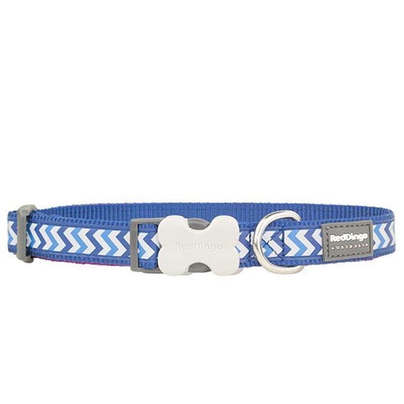 Reddingo Fosforlu Ziggy Desenli Lacivert Köpek Boyun Tasması 20 Mm