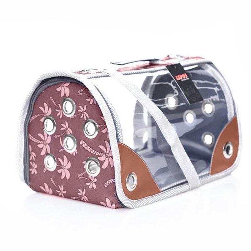 Lepus Şeffaf Fly Bag Kedi Köpek Taşıma Çantası Palmiye Kahverengi Medium