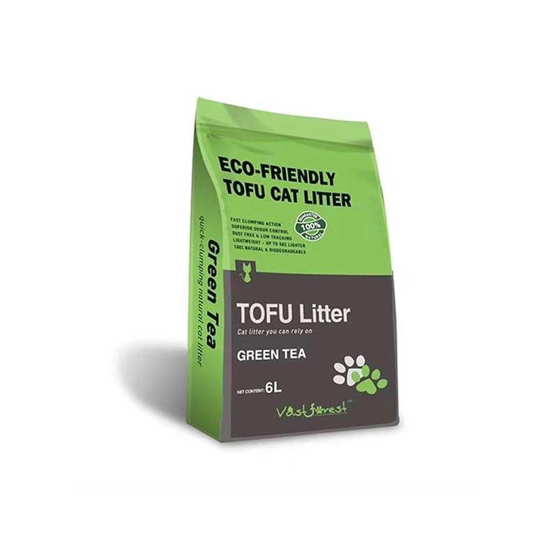 Tofu Organik Kedi Kumu Yeşil Çay Kokulu 6 lt