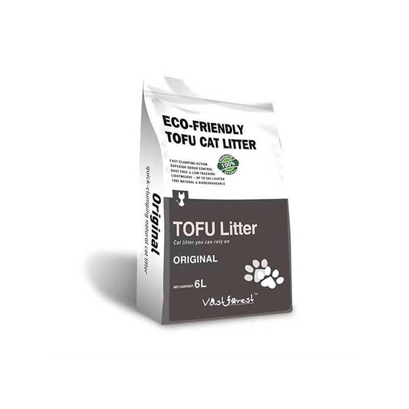 Tofu Organik Kedi Kumu Original Kokusuz 6 lt