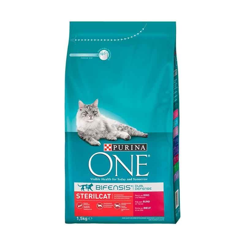 Purina One Sterilised Sığır Etli Kısır Kedi Maması 1.5 kg