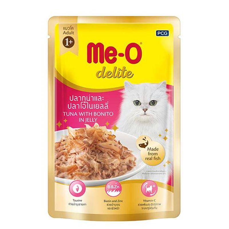 Meo Delite Pouch Ton Balıklı ve Palamutlu Kedi Konservesi 70 Gr