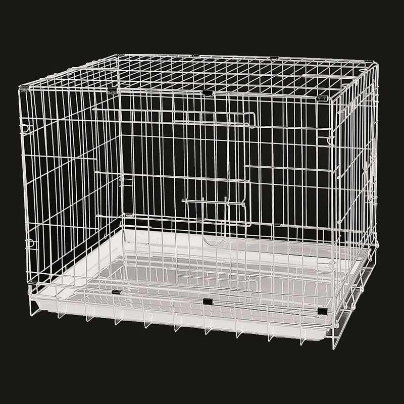 Dayang 042C Köpek Kafesi Pansiyon Kafesi Beyaz 78x48x55 Cm