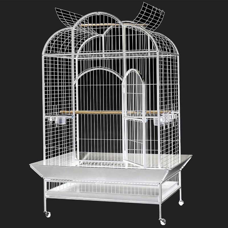Dayang A24B Papağan Kafesi Ayaklı Beyaz 132x102x186cm