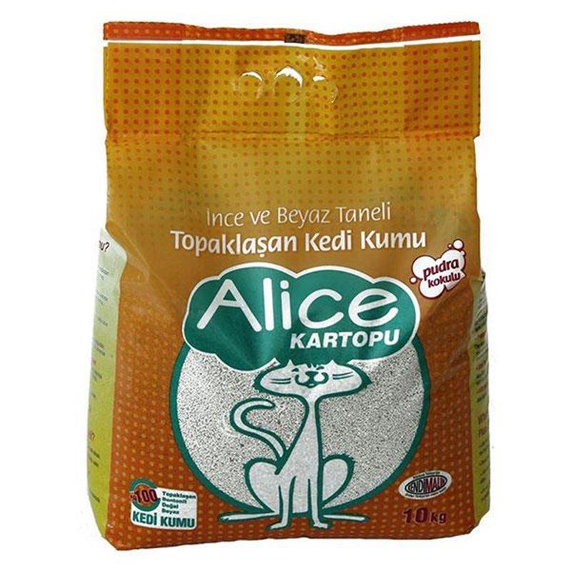 Alice İnce Taneli Pudra Kokulu Kedi Kumu 10 Kg
