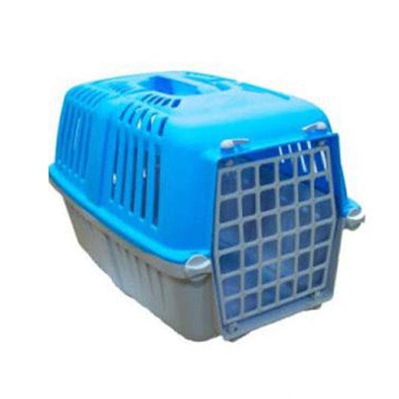 Mio Plastik Kapılı Kedi Köpek Taşıma Çantası Mavi