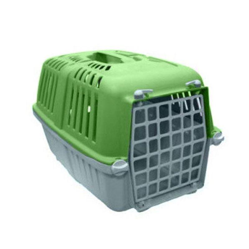 Mio Plastik Kapılı Kedi Köpek Taşıma Çantası Yeşil