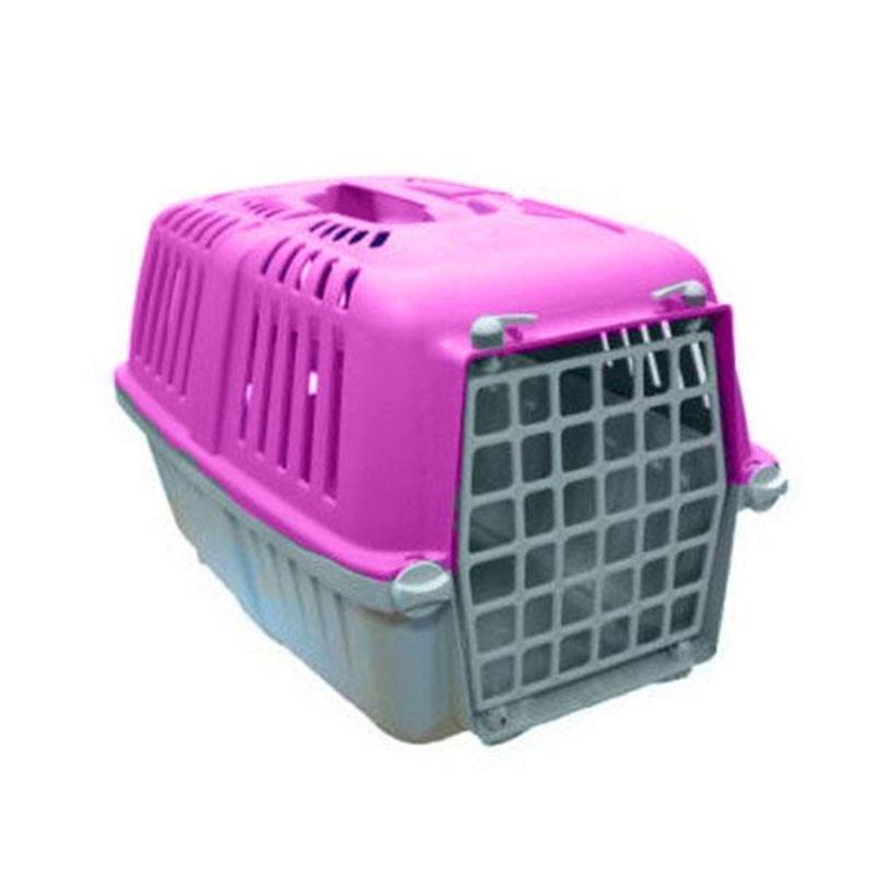 Mio Plastik Kapılı Kedi Köpek Taşıma Çantası Pembe