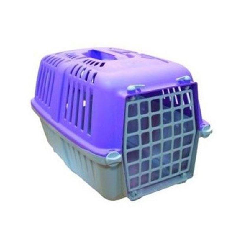 Mio Plastik Kapılı Kedi Köpek Taşıma Çantası Mor